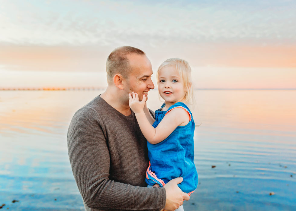 Daddy and daughter Brisbane family photography