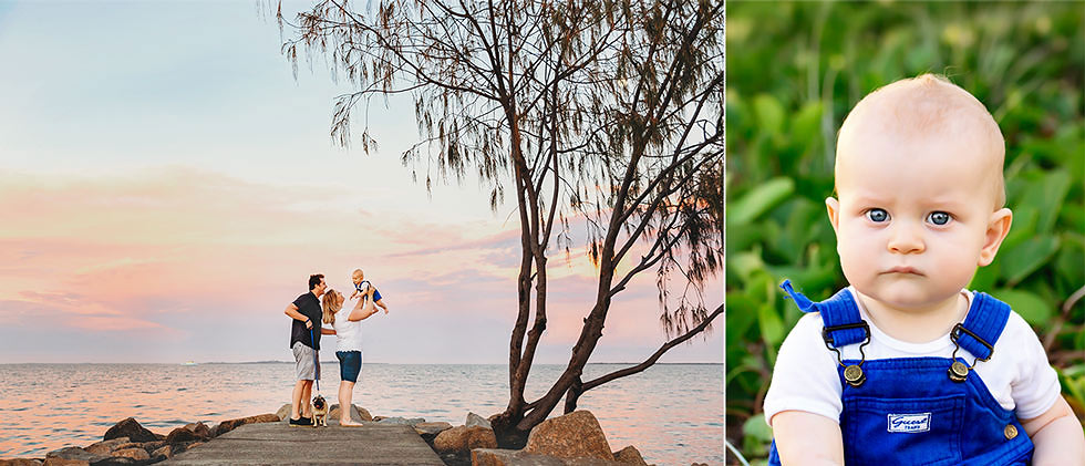 Family photography south Brisbane Wynnum waterfront