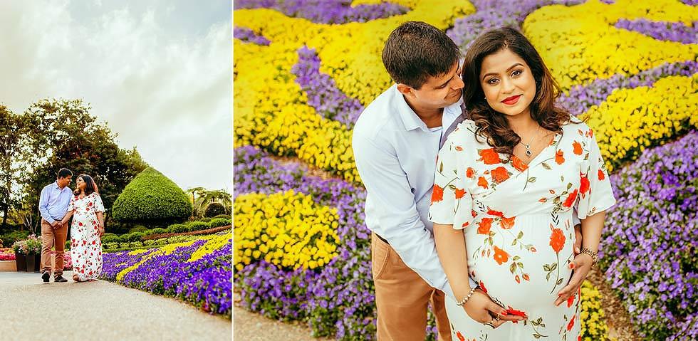Maternity photography Brisbane. Flower garden